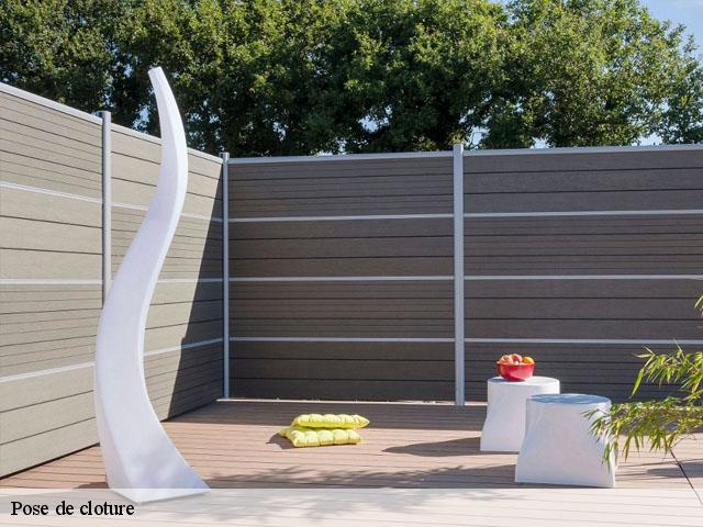 Pose de cloture