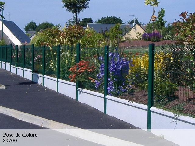 Pose de cloture  89700